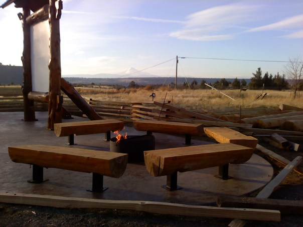 Campfire area at the new Crooked River Amphitheater.