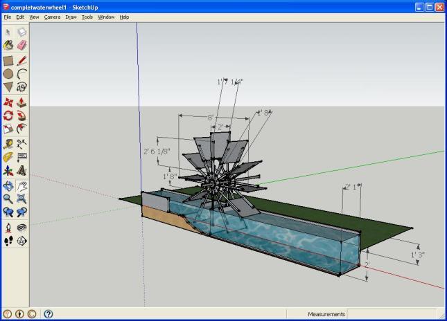 Model Water Wheel Plans Garden Water Wheel Plans