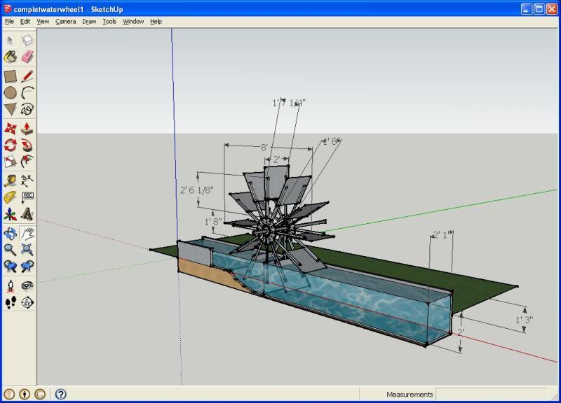 wooden water wheel plans