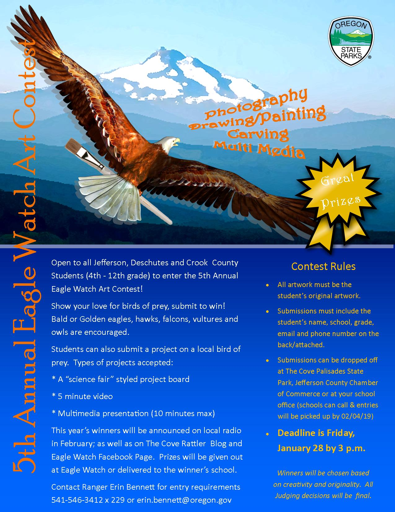 5th Eagle Watch Art Contest Flyer